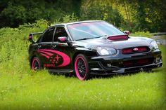 2004 Black and Pink Subaru OWNER: Rachel Lynch