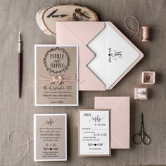 Wedding Invitation Suite 20 Wedding by 4invitationwedding on Etsy