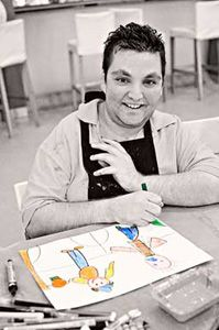 James is an enthusiastic student and commited to our Tuesday Group. Despite suffering from Kabuki Syndrome, his commitment and passion for the arts has shone through. James' warm heart, talent and determination won him the START Scholarship in 2011.