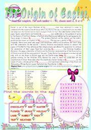 English teaching worksheets: Easter