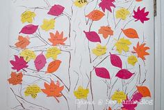 Thankfulness Tree: I want to make this. Thanks @CreativeKristi and @MeghanTucker for sharing the idea!
