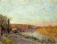 The Sèvres Bridge (1877) - Alfred Sisley