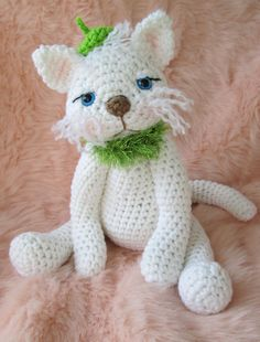 Cute Kitty Cat Crochet Pattern, by Teri Crews Wool and Whims PDF format. $4.95, via Etsy.