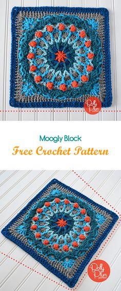 Moogly Block Free Crochet Pattern #crochet #yarn #crafts #homedecor #homemade #handmade