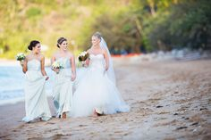 Bridesmaids on a beach  - Noble Photography