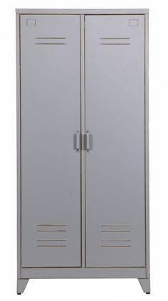LEF Collections Kast U0027Max 2u0027 Grijs Metaal 185x85x50cm