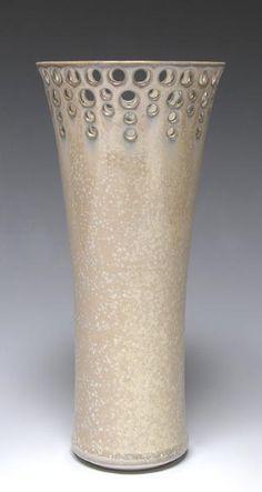 judy dyelle pierced porcelain vase