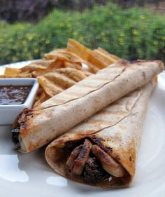Chipotle Steak Wrap (I'd do this using grilled chicken, too.  Yum!)