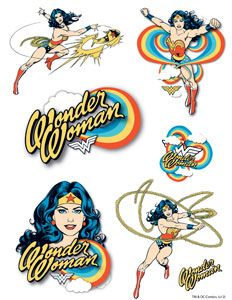 wonder woman temporary tattoos...i kinda need these