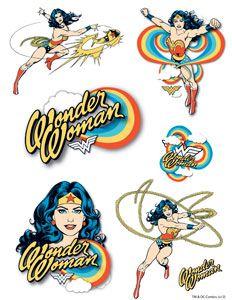 wonder woman temporary tattoos...i kinda need these