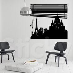PARIS VIEW 1 Wall Stickers Paris, City Life, Wall Murals, Canvas Prints, House, Ideas, Home Decor, Vinyls, Wallpaper Murals