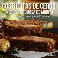 Video von Schweinerippchen in Morita Creamy Sauce Pork Recipes, Mexican Food Recipes, Cooking Recipes, Cooking Fish, Comida Diy, Deli Food, Yummy Food, Tasty, Mets