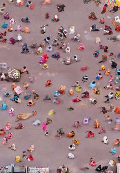 aerial photo of market in Vrindavan, India by Katrin Korfmann