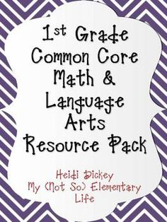 This 77 page customizable background pack is a resource pack to be used with the 1st grade Common Core Math and Language Arts Standards. This is a great organizational tool for any first grade classroom to keep track of when you teach the common core standards in your classroom. $4.00