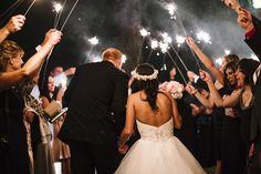 Florida Wedding Photography - Bride & Groom, sparklers