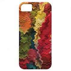 Colorful Fabric Abstract iPhone 5 Cover ~ This colorful fine art iPhone 5 case features an image of a contemporary abstract fabric pattern in wavy psychedelic rainbow colors of pink, red, yellow, orange, green, blue, brown, mauve, purple and turquoise.