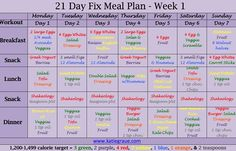 21 Day Fix Nutrition Plan | The Graues -Download FREE Menu Template --> http://thegraues.com/21-day-fix-vegetarian-weekly-meal-plan/