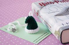 Green HAT bookmark  ornament White Green / perfect di SoftCute
