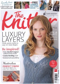 Ravelry: The Knitter, Issue 74 - patterns Knitting Books, Crochet Books, Vintage Knitting, Lace Knitting, Knitting Stitches, Knitting Designs, Knitting Patterns Free, Knit Patterns, Knit Crochet
