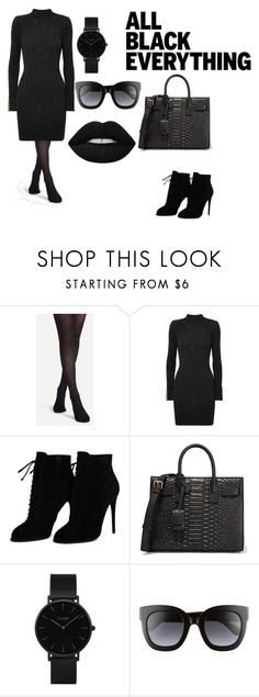 """Untitled #387"" by pearldora41 ❤ liked on Polyvore featuring Balmain, Tom Ford, Yves Saint Laurent, CLUSE, Gucci and allblackoutfit"