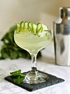 Cucumber Mint Martini