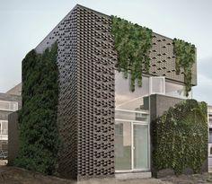 Клинкер для вертикального озеленения