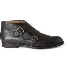 Jimmy Choo St James Leather Monk-Strap Shoes   MR PORTER