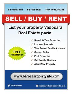real estate baroda, property in baroda, property in vadodara, new property in vadodara,  vadodara real estate site