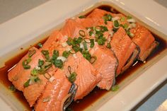 PRINT RECIPE Living in the North West has taught me to cook and eat a lot of fresh salmon. The best part about salmon is that it is such a. Fish Dishes, Seafood Dishes, Fish And Seafood, Shellfish Recipes, Seafood Recipes, Cooking Recipes, Salmon Recipes, Raw Sushi, Protein