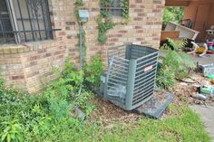 Stolen Central Compressor at 2014 Baton Rouge Foreclosure Inspection.