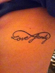 love infinity tattoo - Google Search