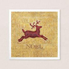 Flying Reindeer Personalized Napkin - Xmas ChristmasEve Christmas Eve Christmas merry xmas family kids gifts holidays Santa