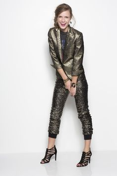 holiday style: those sparkle pants.
