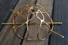 Brass Hair Cage Bun Cover by skydesign on Etsy, $48.00