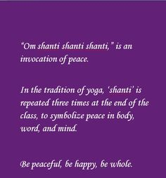 Meaning: #Om #Shanti
