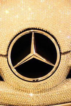 Mercedes Benz SLK in Swarovski Crystal ~ Photography by Simbon Mercedes Benz Slk, Gold Mercedes, Audi, Porsche, Bugatti, Maserati, Ferrari, Koenigsegg, Mercedes Benz Wallpaper
