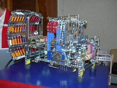 Meccano Jacquard loom by Guy Pouchet