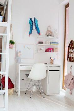 17 Pastel Nursery, Office Desk, Corner Desk, Ikea, Loft, Kids Rooms, Storage, Interior, Furniture