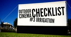 Outdoor Cinema – Site checklist – FAQ's Cinema Outdoor, Cinema Site, Irrigation Pipe, Pipes, Movie, Film, Cinema, Pipes And Bongs, Films