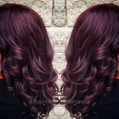 Dark red violet purple burgundy maroon hair color by @haircolorbymiranda