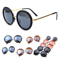 Women round lens sunglasses cute coating sun glasses oculos de sol masculino brand vintage glass lentes de sol for hipster(China (Mainland))
