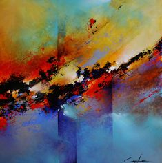 Colorful Painting Series Santa Fe Large abstract contemporaryTexas Dallas Houston Austin California New York Art - Cody Hooper Art Abstract Landscape Painting, Abstract Wall Art, Colorful Paintings, Art Paintings, Painting Edges, Amazing Art, Cool Art, Contemporary Art, Sculpture