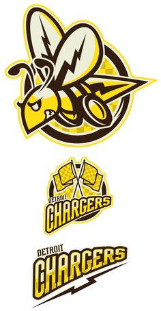 Detroit Chargers: IceHL by Matthew McElroy, via Behance