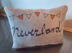 Book throw pillow Neverland pillow Peter Pan baby room decor nursery gifts