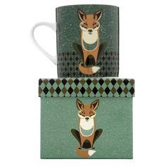 Magpie Dusk Wildlife Fox Mug in Gift Box