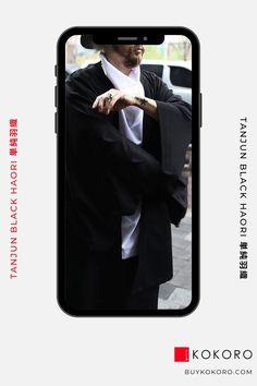The haori (羽織) is a traditional Japanese hip- or thigh-length jacket worn over a kimono. Tanjun Black Haori, Men's Fashion, Men's Style Inspiration, Men's Casual Outfit, Men's Classy Style, Men's Urban Style, Men's Street Style, Aesthetic Haori, Comfortable Haori, Trendy Outfit, Fashion Blogger! #haori #fashionblogger #fashionoutfit #mensfashion #kokorostyle