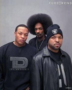 Dr. Dre, Snoop Dogg,  Ice Cube. Three of my all time favorite artists.