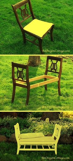 Dining Room Chairs Turned Into A Bench