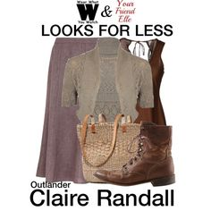 A looks for less Inspired by Caitriona Balfe as Claire Randall on Outlander.