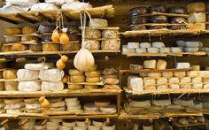 My dream cheese shelf. La Fromagerie, Marylebone.